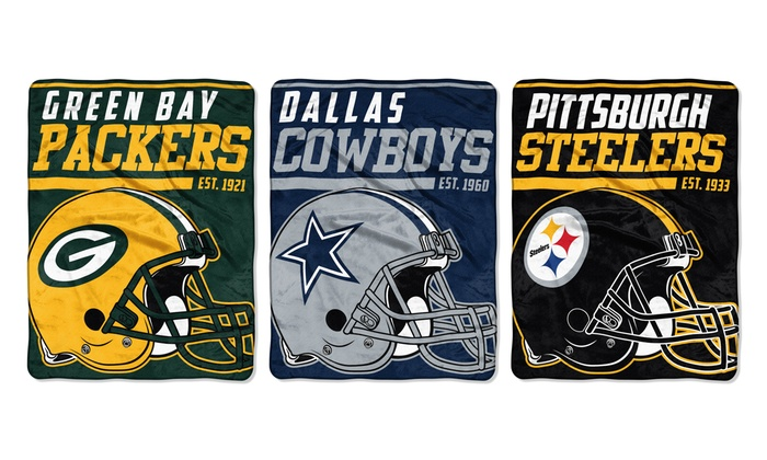 """NFL 46""""x60"""" Micro Raschel Throw Blanket"""