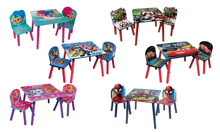 Kids' Character Table with Chairs