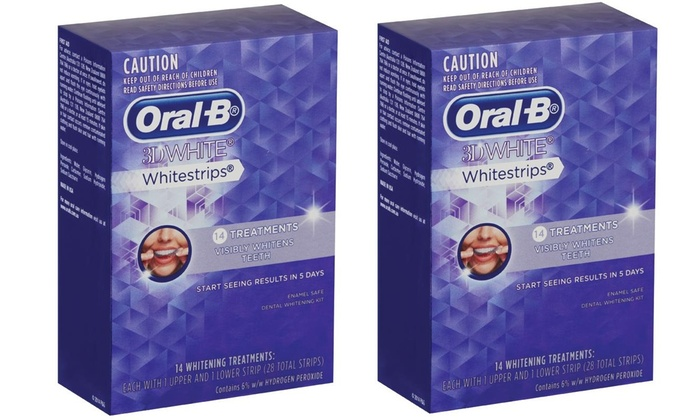 28 treatments oral b whitestrips groupon. Black Bedroom Furniture Sets. Home Design Ideas