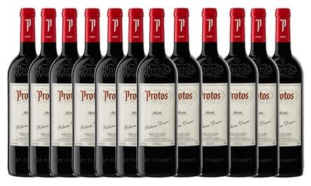 Pack de 6 o 12 botellas de vino tinto Protos Roble D.O. Ribera del Duero 75cl (envío gratuito)