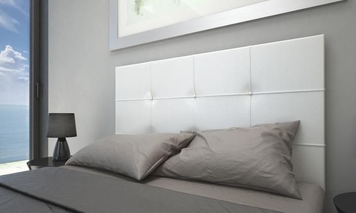 Cabecero de cama tapizado groupon goods - Cabecero tapizado blanco ...