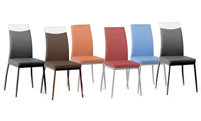 Sedie Sala Da Pranzo Ecopelle : Set sedie supreme in ecopelle groupon goods