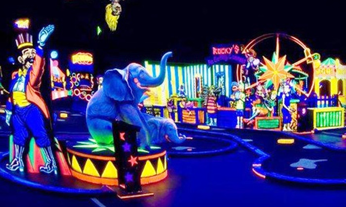 Rocky's Fun House Miniature Golf - The People's Choice Family Fun Center: Indoor Glow-in-the-Dark Mini-Golf Outing for Two, Four, Six, or Eight at Rocky's Fun House Miniature Golf in Waukegan (Up to 67% Off)