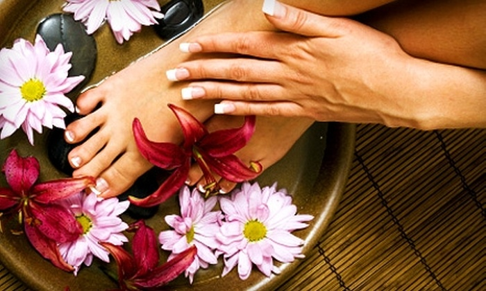 Spa Mystyk - Bellwood: $25 for a Spa Mani-Pedi at Spa Mystyk in Melrose Park (Up to $65 Value)