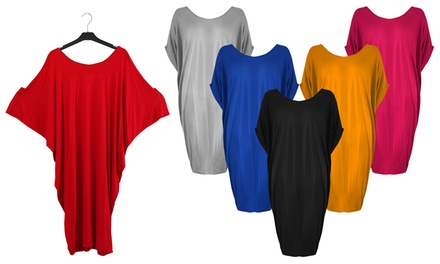 Batwing Oversized Jersey Dress
