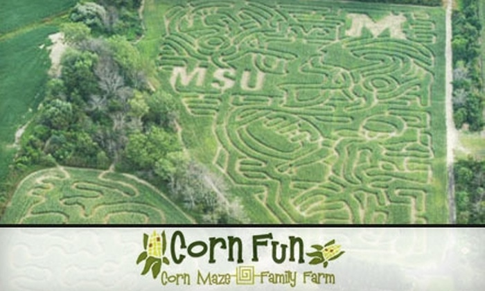 Corn Fun Family Farm - Casco: $10 for Admission for Two to Corn Mazes at Corn Fun Family Farm in Casco (Up to $20 Value)