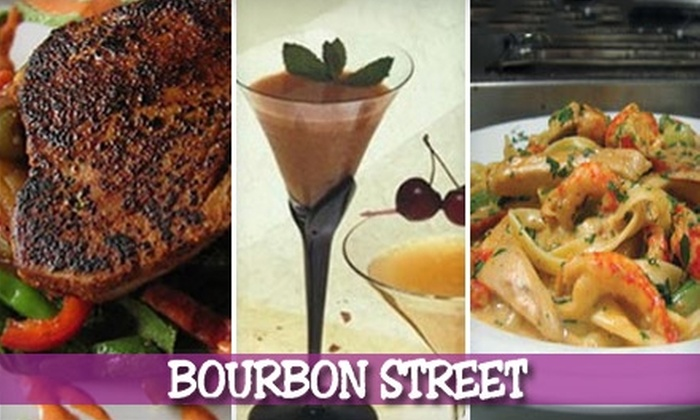 Bourbon Street Café - Bayside: Authentic Cajun Dining and Drinks at Bourbon Street Café in Bayside. Choose Between Two Options.