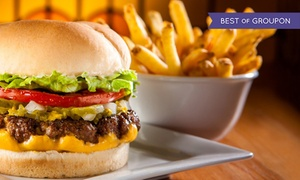 Fatburger: CC$16 for Fatburgers with Cheddar Cheese and Skin-On Fries for Two at Fatburger (CC$25.34 Value)