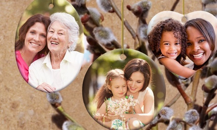 groupon daily deal - Custom Photo Ceramic or Pewter Ornaments from Picture It on Canvas. Free Shipping.