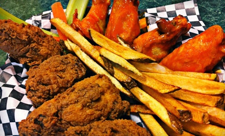 $20 Groupon for Wings and Burgers at Just Wing It - Just Wing It in San Antonio