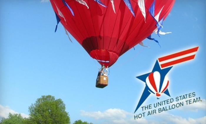 US Hot Air Balloon Team - Wilmington-Newark: $159 For A Hot-Air Balloon Ride Over Philadelphia And Countryside With U.S. Hot Air Balloon Team ($249 Value)