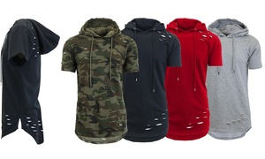 Men's Short-Sleeve Ripped Hoodie at Men's Short-Sleeve Ripped Hoodie, plus 6.0% Cash Back from Ebates.