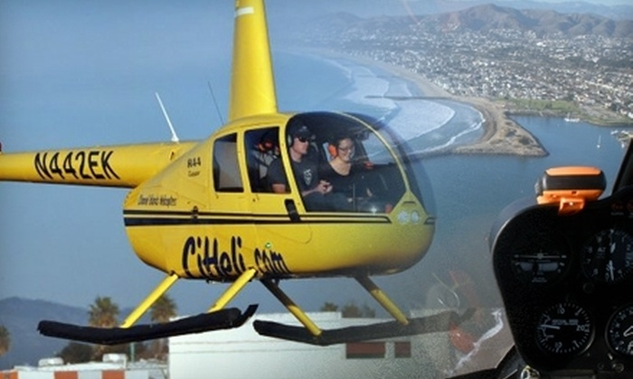 Channel Islands Helicopters - Sea Air: $187 for a Three-Person Helicopter Surf and Whale Tour with Champagne or Flowers from Channel Islands Helicopters in Oxnard ($375 Value)