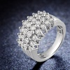 1/2 CTTW Diamond 4-Row Ring in Sterling Silver by DiamondMuse