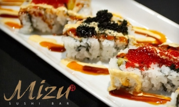 Mizu Sushi & Grill - Greenland: $10 for $20 Worth of Sushi, Japanese Seafood, and More at Mizu Sushi & Grill