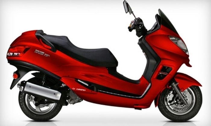 Chironex Motorsports Inc. - Greenbelt: $2,520 for a Tuxedo 250 Maxi Scooter, Including Shipping, from Chironex Motorsports Inc. ($4,199 Value)