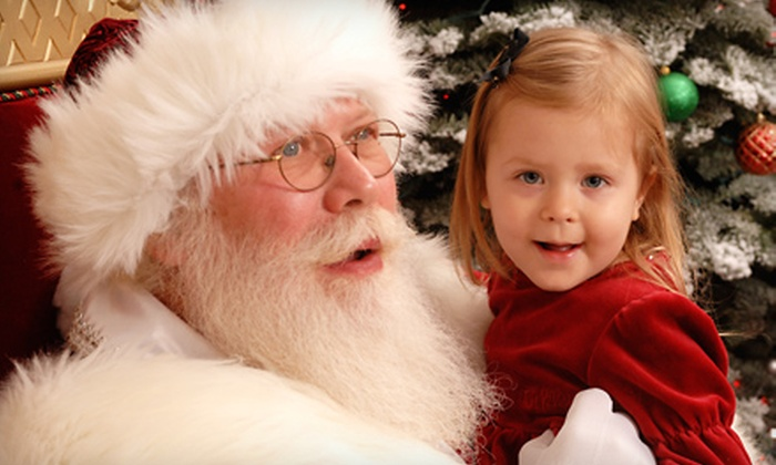 Santa at River Park - Fresno: $35 for a Premium Photo Package with Prints, Photo CD, and Gift Frame at Santa at River Park ($70 Value)