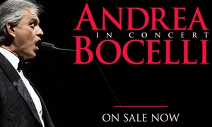 Limited Time: Andrea Bocelli Concert on October 21: Limited Time Only: Andrea Bocelli's Special Concert on October 21 at 7:30 p.m. at the Bell Centre