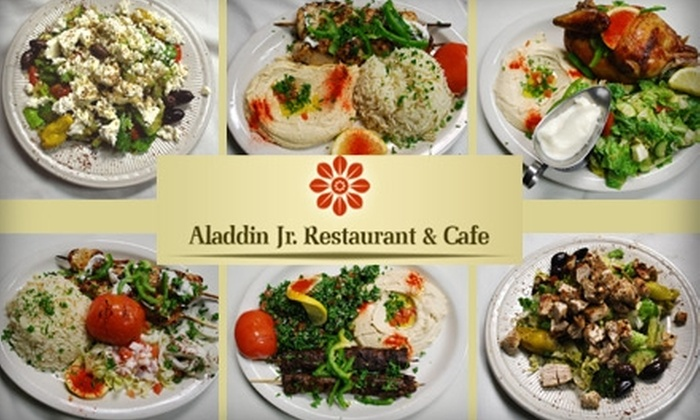 Aladdin Jr. - Multiple Locations: $10 for $25 Worth of Arabic Cuisine at Aladdin Jr. Restaurant and Cafe