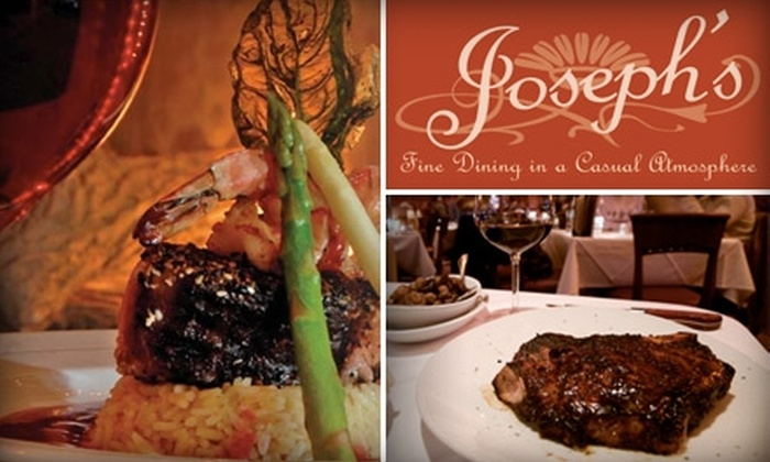 Joseph's Fine Dining - Central Colorado City: $12 for $25 Worth of Upscale Eats and Drinks at Joseph's Fine Dining