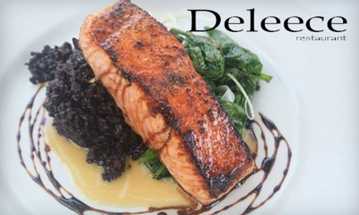 Deleece Restaurant/ Deleece Grill Pub - Multiple Locations: $20 for $40 Worth of Sophisticated Comfort Fare and Drinks at Deleece Restaurant (or $15 for $30 Worth of Fare at Deleece Grill Pub)