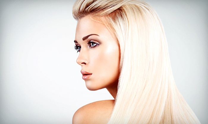 Pure Bliss Hair Colour Studio - Legacy Place: Keratin Treatment or Haircut with Optional Color or Highlights at Pure Bliss Hair Colour Studio (Up to 70% Off)
