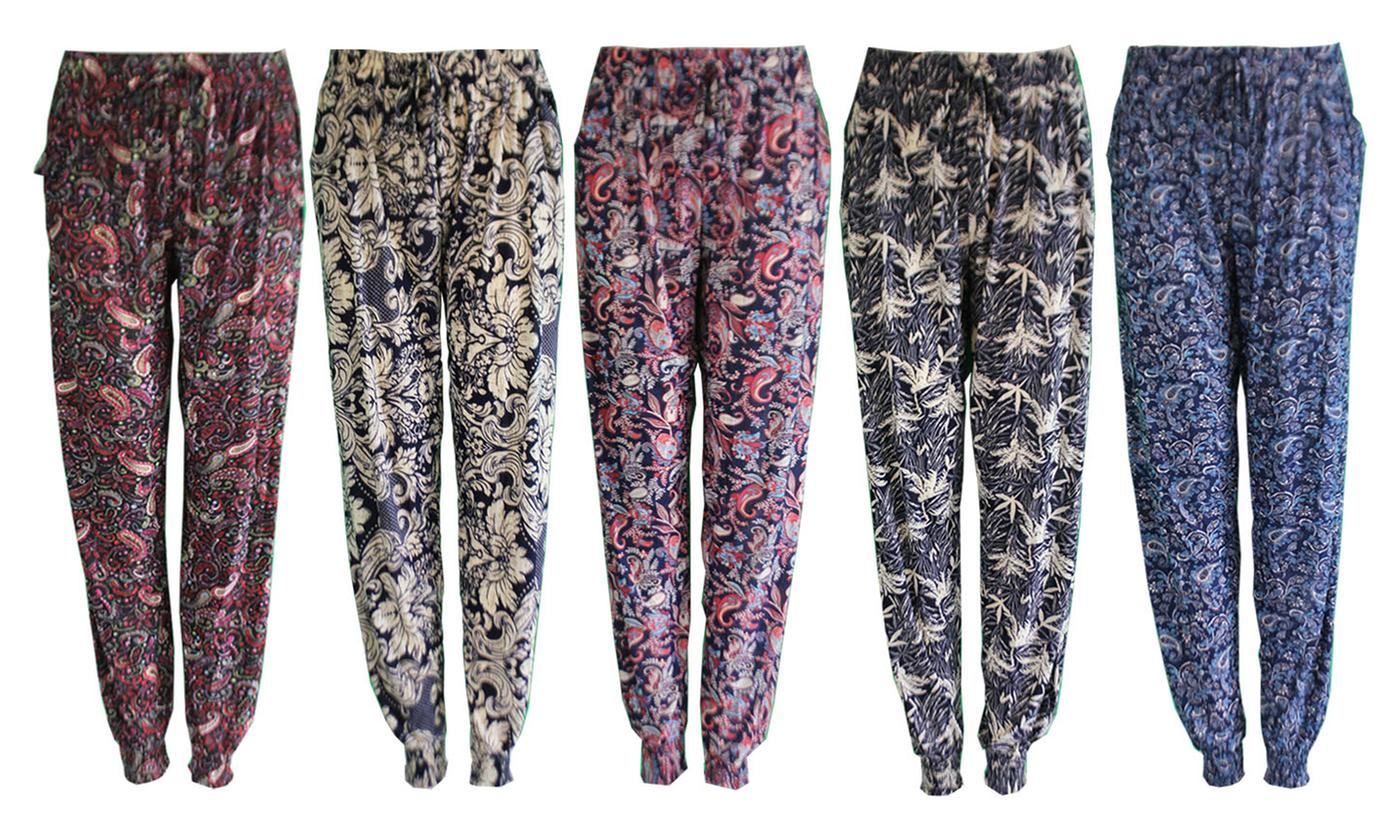 Women's Loose Fit Harem Trousers