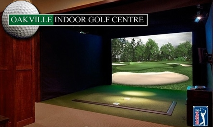 Oakville Indoor Golf Centre - Oakville: $20 For One Hour in a Golf Simulator (Up to $40 Value) at Oakville Indoor Golf Centre