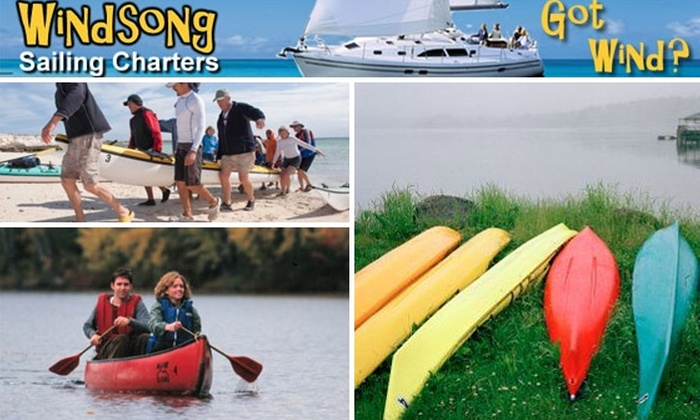 Windsong Charters - Flor-a-mar: $45 for a Kayak or Canoe Rental from Windsong Sailing Charters