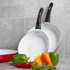 "Ceramic Non-Stick Fry Pan Set with 8"", 10"", and 12"" Pans"