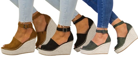 Women's Casual Peep Toe Wedges
