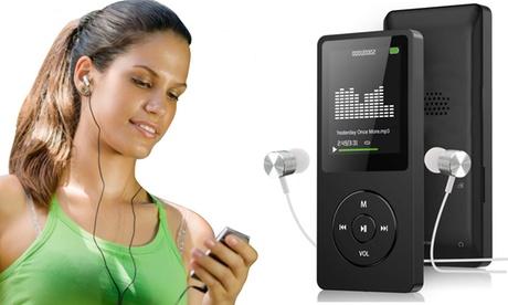 Reproductor MP3 ultradelgado y tarjeta Micro SD 32 GB