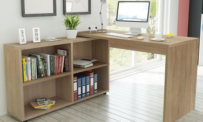 bureau avec tiroir bureau d 39 angle groupon. Black Bedroom Furniture Sets. Home Design Ideas