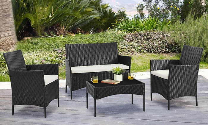 gartenm bel set aus polyrattan groupon goods. Black Bedroom Furniture Sets. Home Design Ideas