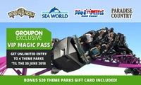 $169 for Unlimited Entry to Warner Bros. Movie World, Sea World, WetnWild Gold Coast + Paradise Country