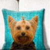 LiLiPi Dog Breed Turquoise Throw Pillow