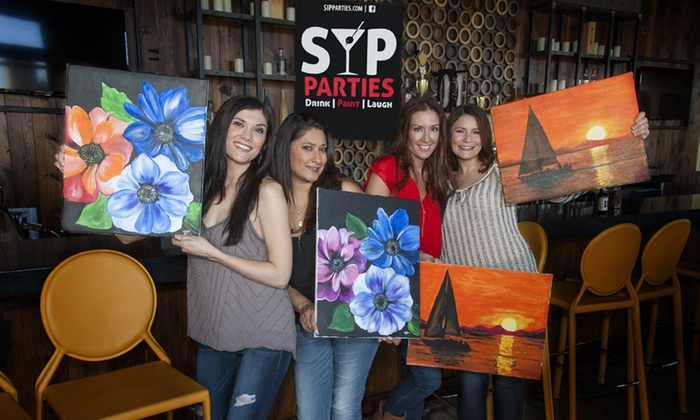 Sip parties up to 47 off chicago groupon for Painting events near me