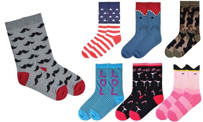 K. Bell Socks: $9.99 for $25 Worth of Socks, Tights, and Leggings from K. Bell Socks