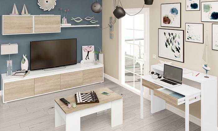 Conjunto de muebles de sal n groupon goods - Escritorio salon ...