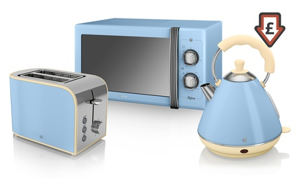 Swan Three-Piece Kitchen Set: Microwave, Kettle and Toaster in Choice of Colour for £114.98 With Free Delivery