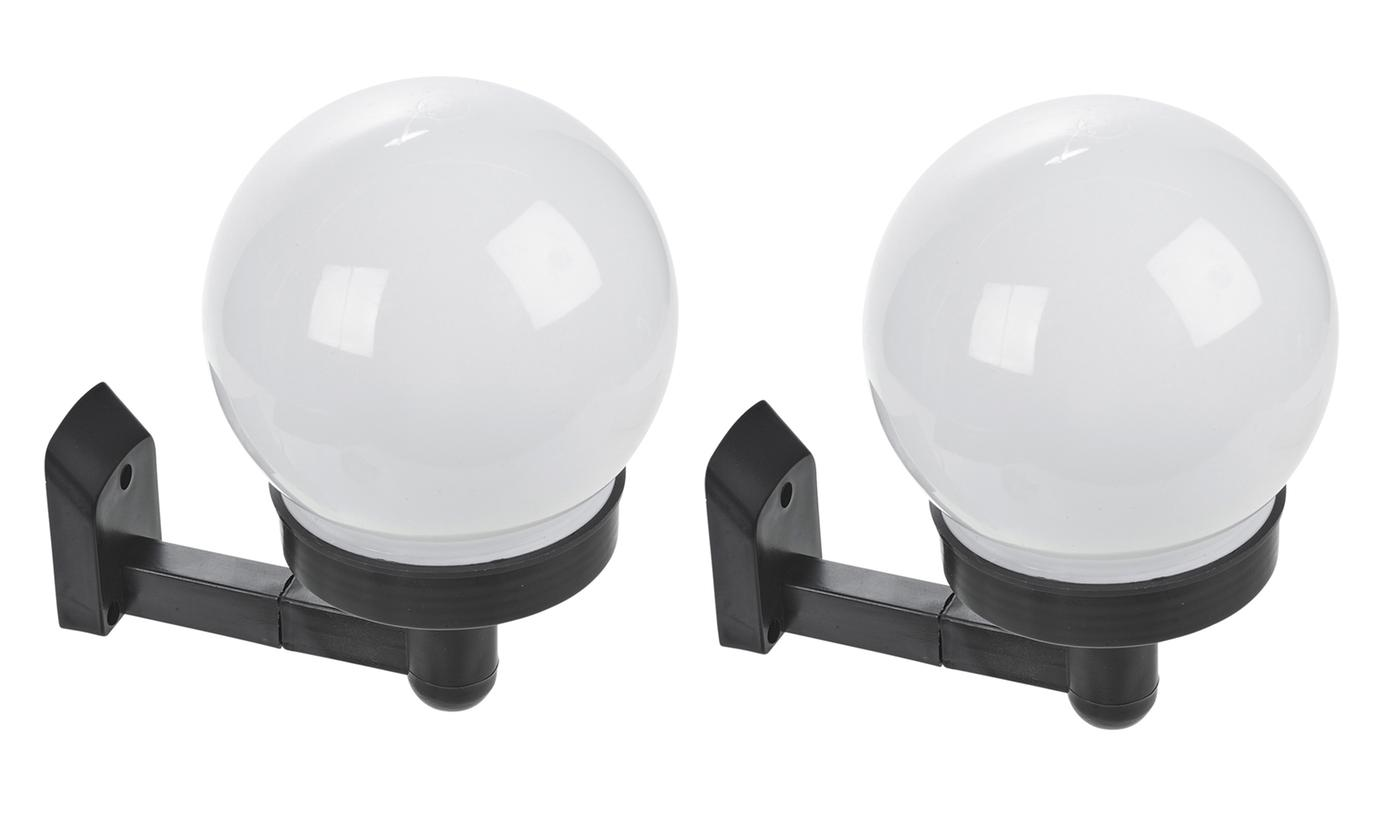 Up to Ten Round Solar-Powered LED Garden Wall Lights