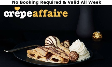 Crêpe with Smoothie or Milkshake for Two at Crêpeaffaire, Multiple Locations