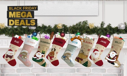 Personalised Christmas Stockings: One $10.95, Two $19.95, Three $29.95 or Four $34.95 Don't Pay up to $159.80