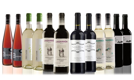 12 Bottles Mixed Case of Red, White and Rose Wine