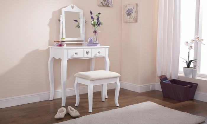 Heart Dressing Table and Stool