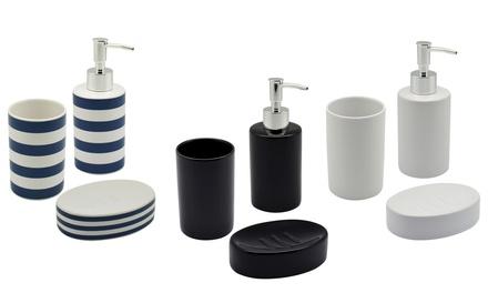 ThreePiece Ceramic Bathroom Accessory Set