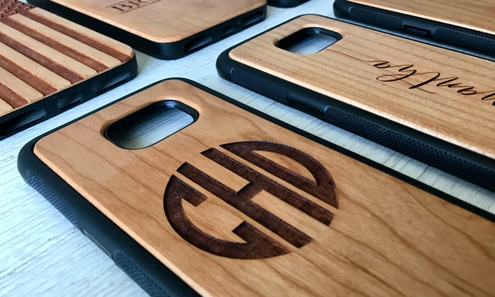 dddbbee358 Up to 87% Off Personalized Wood Cell-Phone Cases from Qualtry