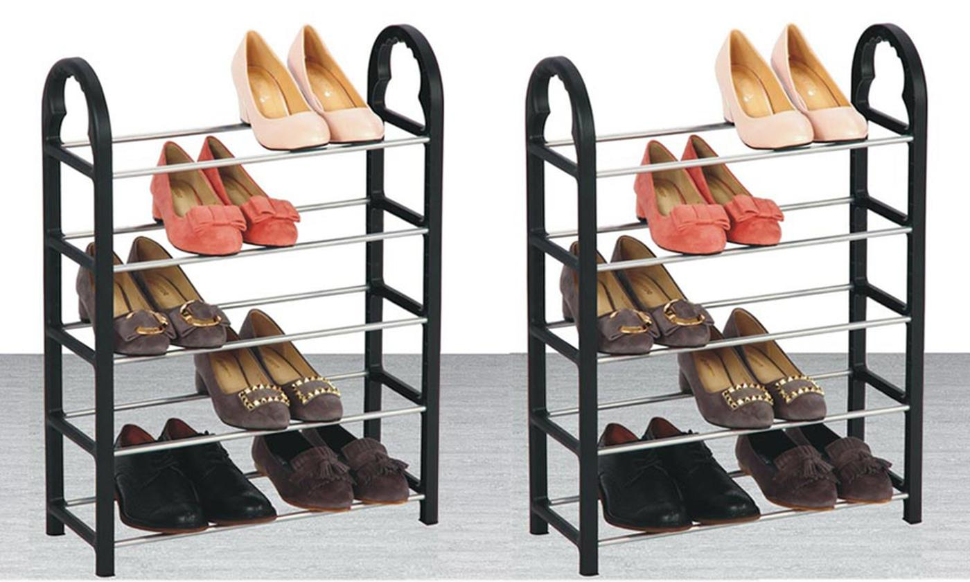 One or Two Five-Tier Shoe Racks