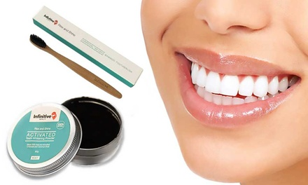 2-6 (AED 49-99) Bamboo Charcoal Toothbrushes or Teeth Whitening Charcoal Powder and Toothbrush Sets (AED 59-99)