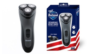 Barbasol Men's Rechargeable Rotary Shaver with Stainless Steel Blades